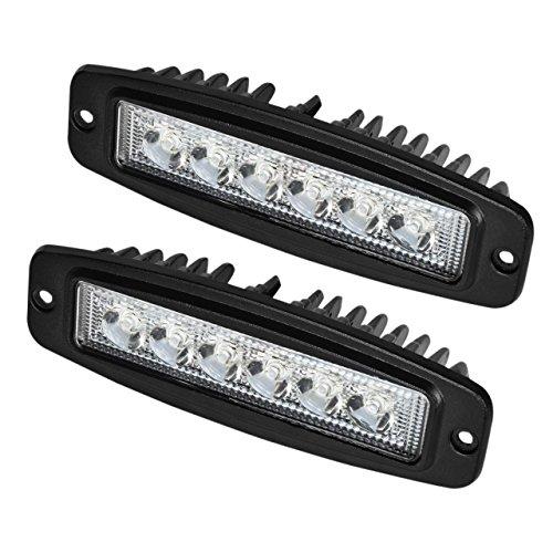 Led Flush Mount Pods,Eyourlife Driving Lights 18w LED Spot Work Light Off Road Led Lights Bar Fog Driving Bar Jeep Lamp 2PC
