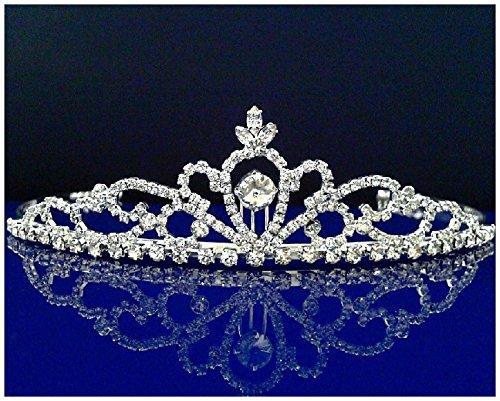 SC Bridal Wedding Tiara Crown 25307 by SparklyCrystal
