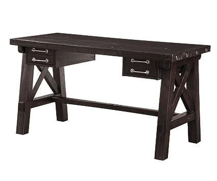 Swell Amazon Com Modus Furniture 7Yc996D Yosemite Solid Wood Desk Download Free Architecture Designs Scobabritishbridgeorg