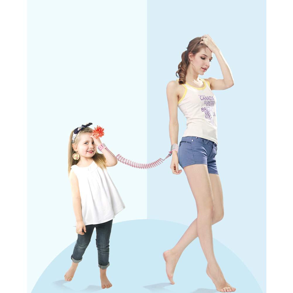 Anti poignet perdu Lien Harnais b/éb/é poignet marche main Ceinture de s/écurit/é Leash Tout-petits avec Wristband verrouillage de s/écurit/é pour enfants Tout-petits enfants 1.5m Rose