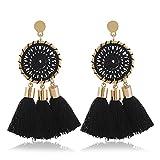 Long Fringed Earrings NEW Girls Boho Long Three Tassel Earrings Women Vintage Ethnic Jewelry