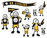 NFL Pittsburgh Steelers Large Family Decal Set