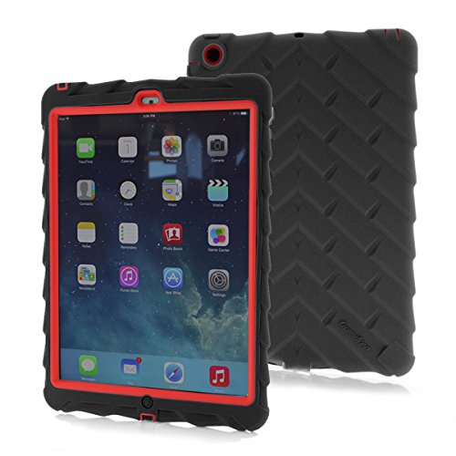 Gumdrop Droptech Case Designed for the Apple iPad Air (2014) Tablet for K-12 Students, Teachers, Kids - Black/Red, Rugged, Shock Absorbing, Extreme Drop Protection