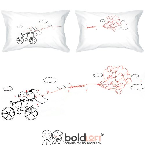 BOLDLOFT Pillowcases Wedding Registry Anniversary Engagement product image