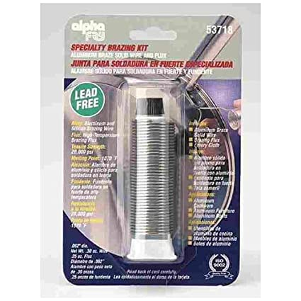 Alpha Fry AM53718 Lead Free Aluminum Wire Braze Solid Wire & Flux ...