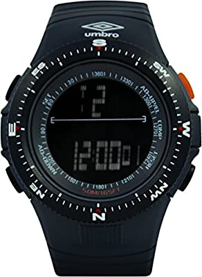 UMBRO UMB-05-2 Unisex ABS Black Band, ABS Bezel 50mm Case Digital MIYOTA 2025 Electronic Precision Movement Water Resistant 5 ATM Sport Watch
