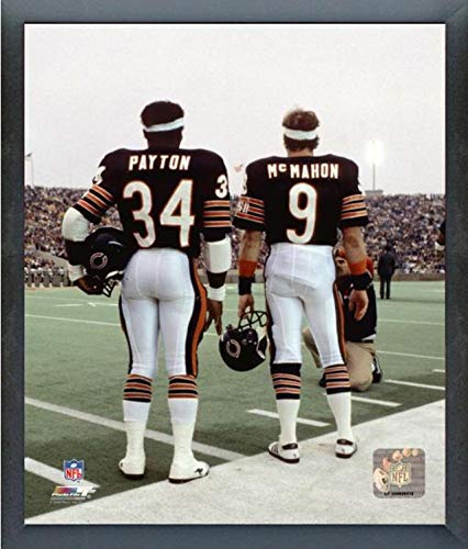Walter Payton Action Framed Photo - Jim McMahon & Walter Payton Chicago Bears Action Photo (Size: 17