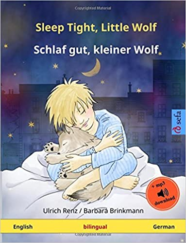 Book Sleep Tight, Little Wolf – Schlaf gut, kleiner Wolf. Bilingual children's book (English – German) (www.childrens-books-bilingual.com)