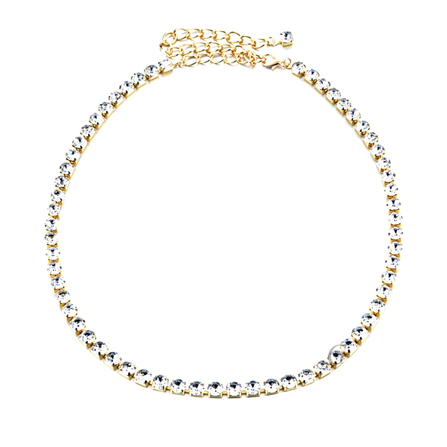 Sitong women's diamond inlaid metal waist chain(2 colors)