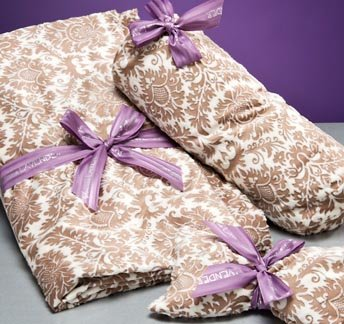 (Taupe Damask Lavender scented Spa Blankie )