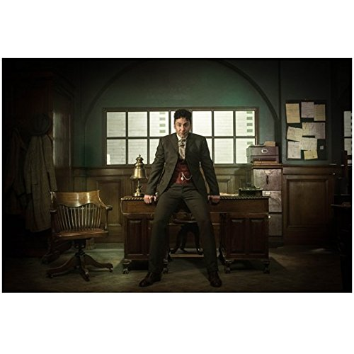 Houdini & Doyle (TV Mini-Series 2016) 8 inch by 10 inch PHOTOGRAPH Michael Weston Sitting/Leaning on Front Edge of Desk in Office kn - Michaels Office Desk