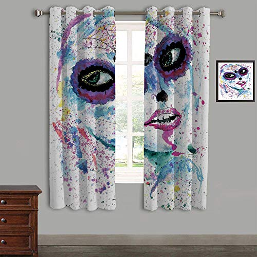 AngelSept Lovely Children Curtains Drapes,Polyester Curtains Panels,2 Panels,105
