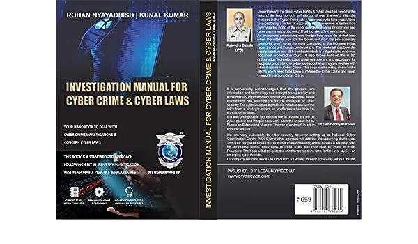 Amazon com: Investigation Manual for Cyber Crime & Cyber