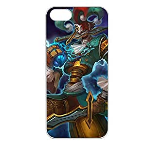 Shaco-009 League of Legends LoL case cover for Apple iPhone 5/5S - Plastic White