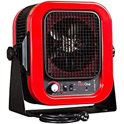 "Cadet RCP402S Space Heater,""The Hot One"" Portable with Bracket, 4000W, 20 Amp, Red"