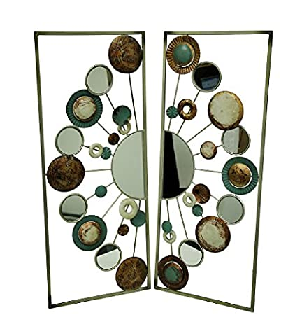 Circle Scatter Two Piece Metal and Mirrors