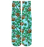 Men Crazy Fun Cool 3D Print Colorful Athletic Novelty Crew Tube Socks,Blue Sloth