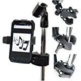 ChargerCity Microphone Stand Smartphone Mount with Multi Angle Adjustment 360° Swivel Holder for Apple iPhone 7 6s Plus 6 SE Samsung Galaxy S7 Edge LG G5 Pro HTC One Moto X S Nokia