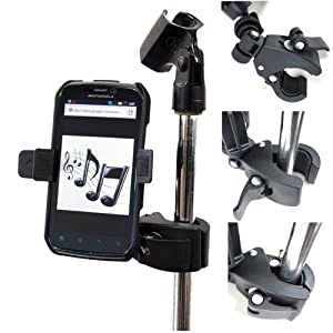 Iphone Holder For Mic Stand : chargercity music mic microphone stand smartphone mount with 360 swivel holder for ~ Hamham.info Haus und Dekorationen