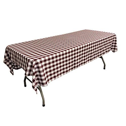 LA Linen Gingham Tablecloth, 60