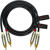 3 Foot RCA Cable Pair - Made with Canare L-4E6S, Star Quad, Audio Interconnect Cable and Amphenol ACPR Gold RCA Connectors – Directional Design - CUSTOM MADE By WORLDS BEST CABLES