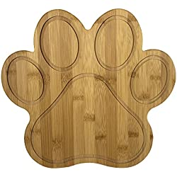 "Totally Bamboo 20-7616 Paw Shaped Bamboo Serving and Cutting Board, 11"" x 10"" Natural"