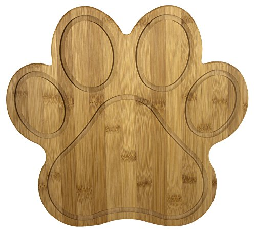 Totally Bamboo 20-7616 Paw Shaped Bamboo Serving And Cutting Board, 11