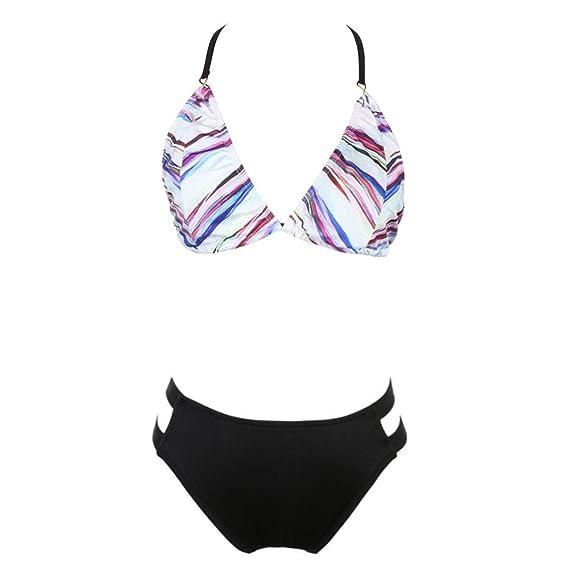 823b3b9767886 asiproper Two-Piece Swimming Suit Women Girls Sexy Floral Bikini Swimwear  2: Amazon.in: Clothing & Accessories