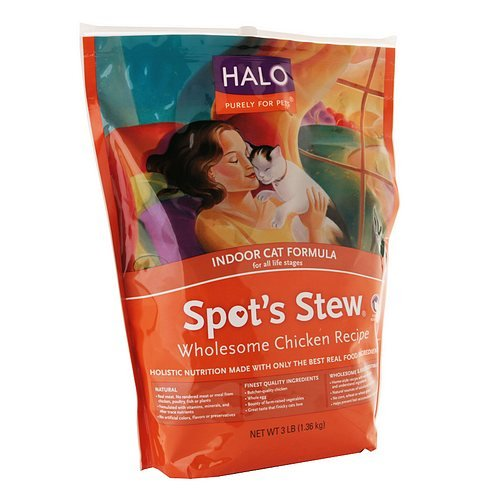 hot sale 2017 Halo, Purely For Pets Spot's Stew Indoor Cat, Wholesome Chicken Recipe 48 oz(pack of 1)