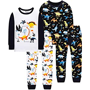 BebeBear Boys' Christmas Baby Truk Clothes Pants Set 4 Pieces Sleepwear