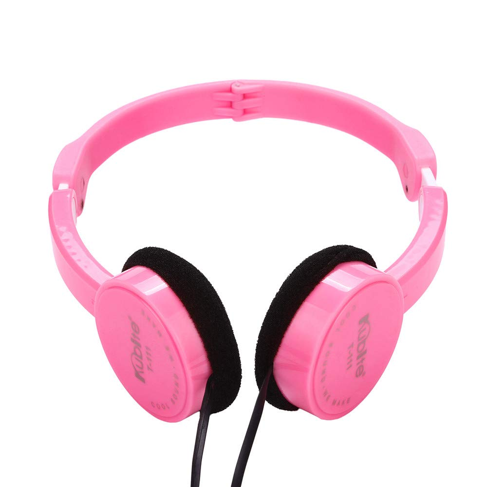 Kids Headphones Stereo, NDGDA On Ear Foldable Wire Headset for Kids Earphone (Pink)
