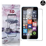 Nokia Microsoft Lumia 640 Screen Protector Tempered Glass, Bear Village® Premium Screen Protector, 9H Scratch Resistant Screen Protector Film for Nokia Microsoft Lumia 640-2 PACK