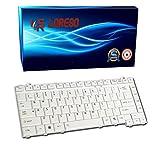 Loreso Laptop Keyboard Toshiba Satellite A200 A300 A300D L300 L300D L510 M300 - (Silver)