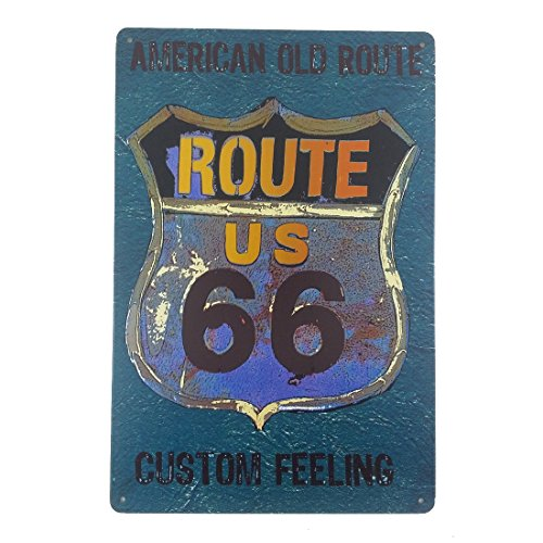 12x8 Inches Pub,bar,beverage,beer Series Wall Decor Hanging Metal Tin Sign Plaque (US Route (Route 66 Halloween)