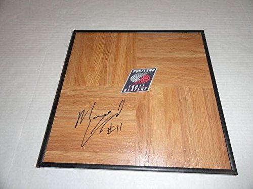 Myers Leonard Signed Framed 12x12 Floorboard Portland Trail Blazers - NBA Autographed Miscellaneous Items