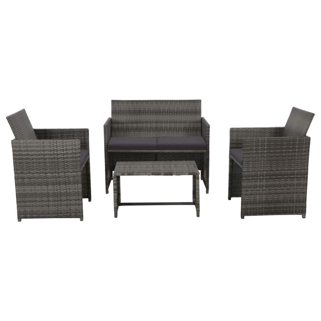 vidaXL Gartensofa 8-TLG. Poly Rattan Lounge Sitzgruppe Gartenmöbel Gartenset