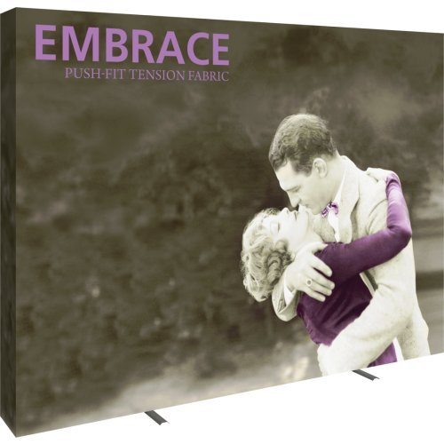 Exhibitor's Handbook EMB-4X3-S Embrace Full Height Push-fit Tension Fabric Display Hardware, - 10' Display Tension Fabric