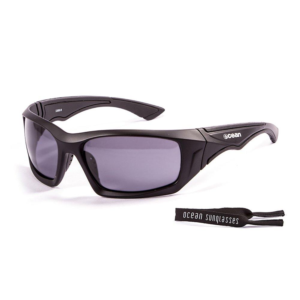 Ocean Sunglasses Antigua - lunettes de soleil polarisées - Monture : Noir Mat - Verres : Fumée (3300.0) P5xruF2w