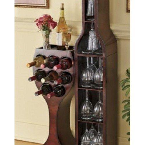 Wine Rack Wall Mounted Wooden Wall Bottle Amp Stemware Rack