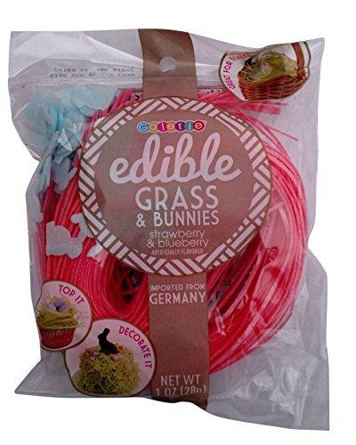 Grass Edible (Edible Easter Grass & Bunnies 1 oz (Strawberry))
