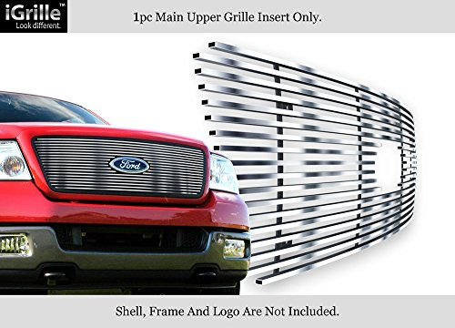 APS Fits 2004-2008 Ford F-150 Honeycomb Style Upper Stainless Black Billet Grille #N19-S72756F