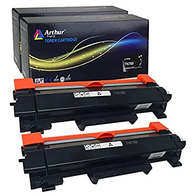 Arthur Imaging Compatible High Yield Toner Cartridge Replacement for Brother TN730/TN760, NO CHIP, easy instructions included, Black, 2 Pack (TN760(2))
