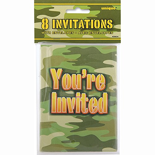 Camo Party Invitations, 8ct