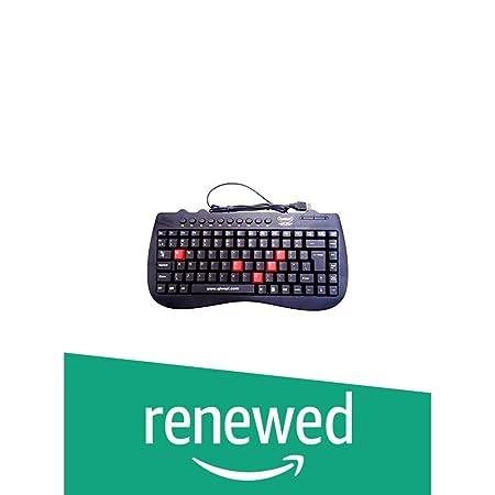 Renewed  Quantum QHM7309 Wired Mini Keyboard  Black  Keyboards