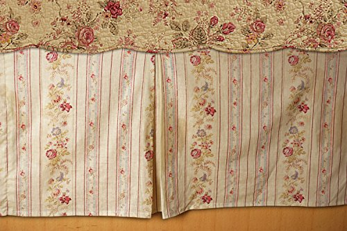 (Greenland Home GL-WB0726-BSKQ Antique Rose Bed Skirt, Queen)