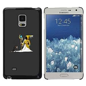 Shell-Star Arte & diseño plástico duro Fundas Cover Cubre Hard Case Cover para Samsung Galaxy Mega 5.8 / i9150 / i9152 ( The Yellow Wizard )