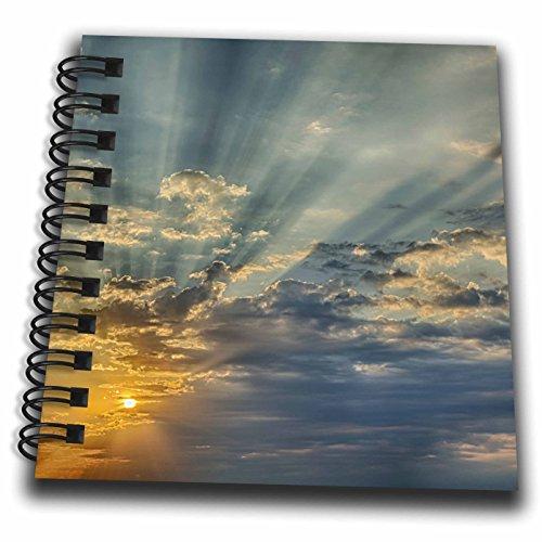 3dRose Danita Delimont - Sunsets - Sunbeams streaming through clouds at sunset, Cincinnati, Ohio - Mini Notepad 4 x 4 inch (db_259840_3)