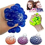 Stress Grape Balls Anti Stress Balls Squishy Balls by LIMBA - Mesh Balls Ideal for Stress Relief - Non Toxic Squishy Grape Balls - 3 SET Grape Balls (Red, Orange, Blue)- 6 CM Size