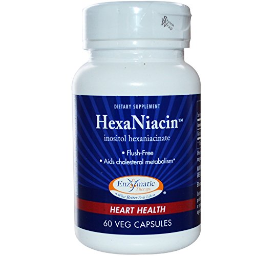 Enzymatic Therapy HexaNiacinTM Inositol Hexaniacinate (flush-free) 60 Veg Caps (Pack of 8) by Enzymatic Therapy