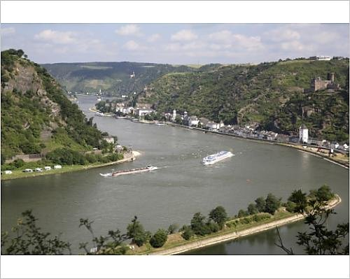 Photographic Print of River Rhine gorge from Loreley (Lorelei)